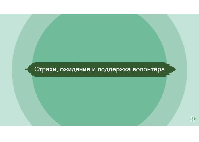 Онлайн-курс для волонтеров. Страхи, ожидания и поддержка волонтера